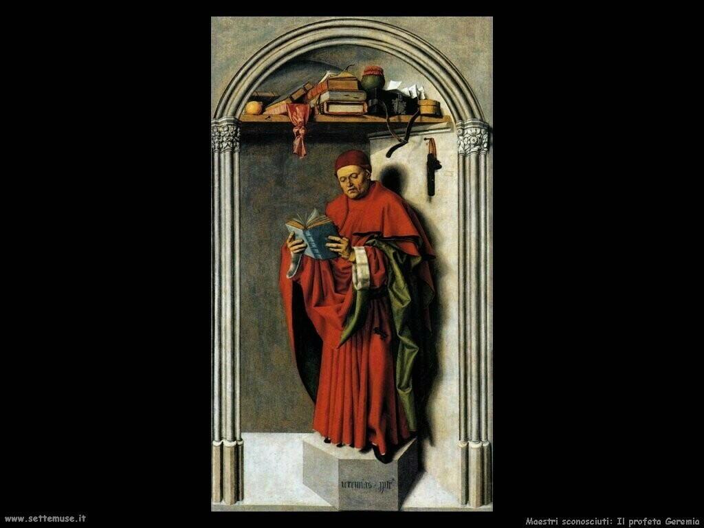 maestri sconosciuti Il profeta Geremia