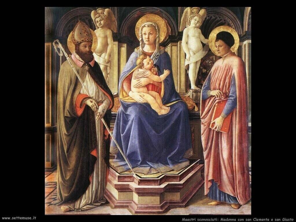 maestri sconosciuti Madonna e san Clemente