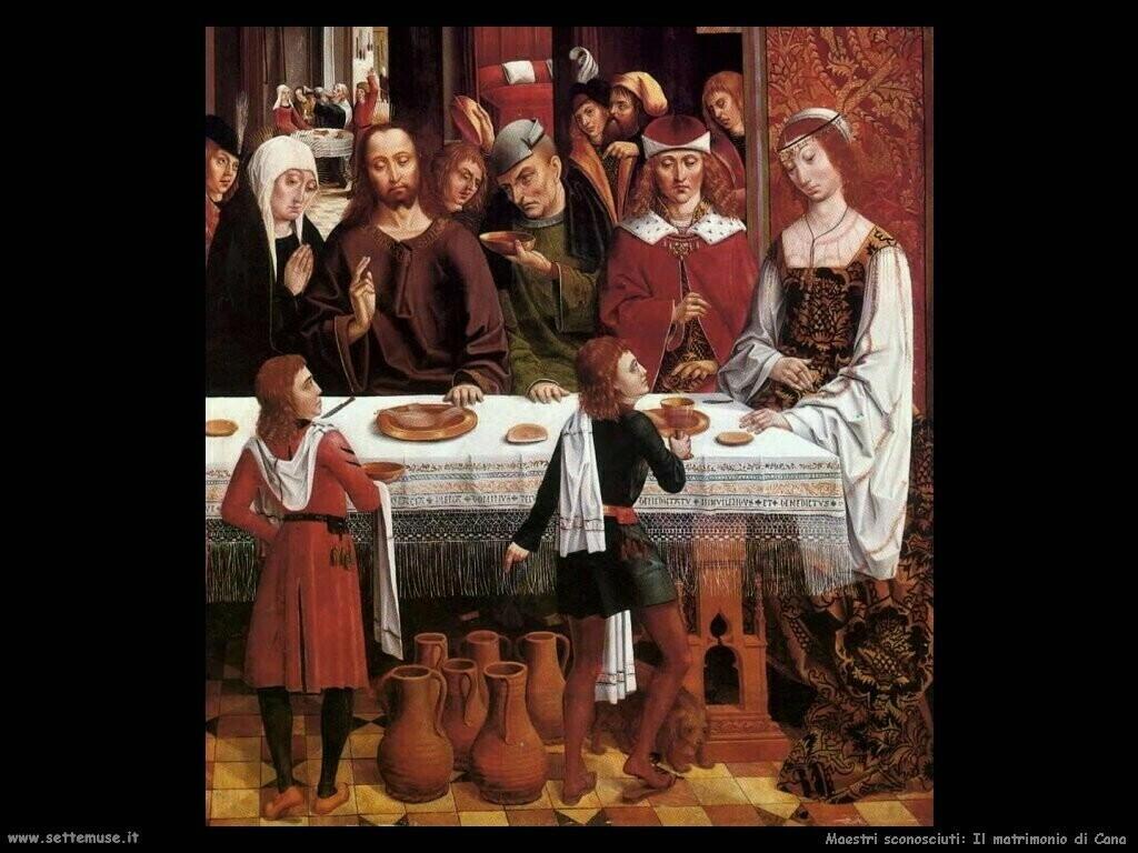 maestri sconosciuti Il matrimonio a Cana
