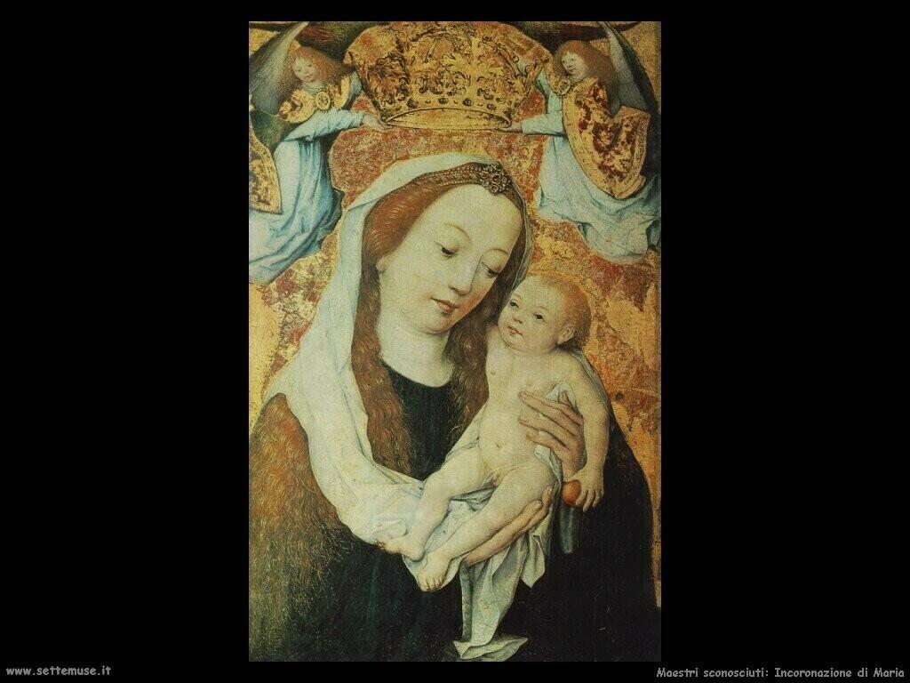 maestri sconosciuti Incoronazione di Maria