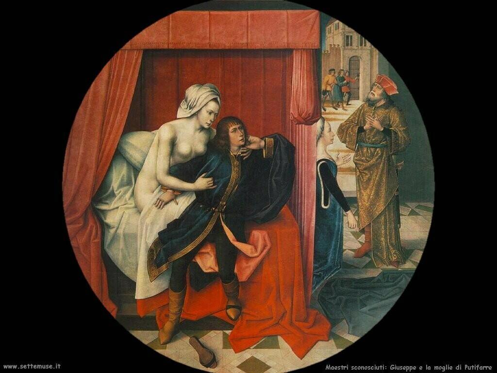 maestri sconosciuti Giuseppe e la moglie di Putifarre
