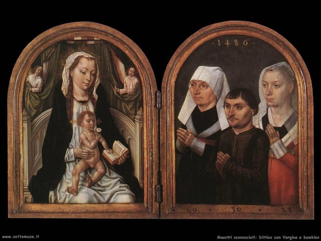 non_identificati_ Dittico della Vergine con bambino