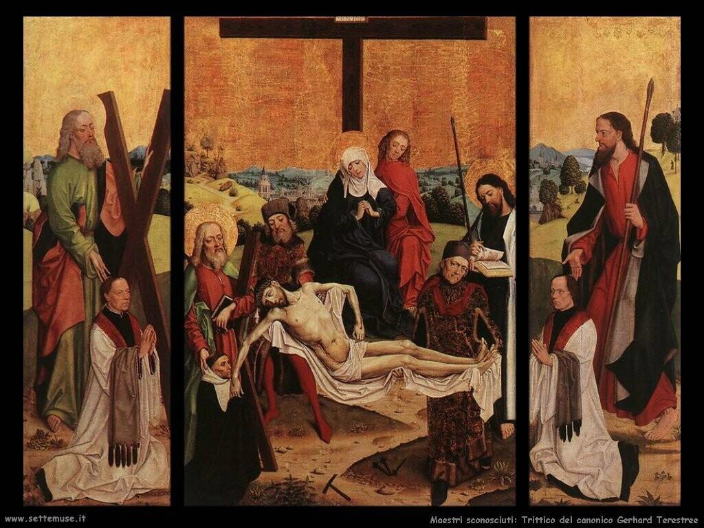 maestri sconosciuti Trittico del canonico Gerhard Terestree