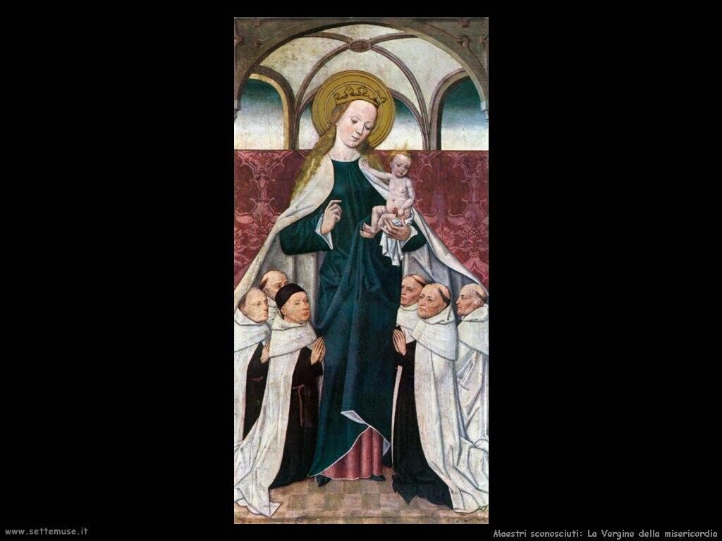 maestri sconosciuti La Vergine della misericordia