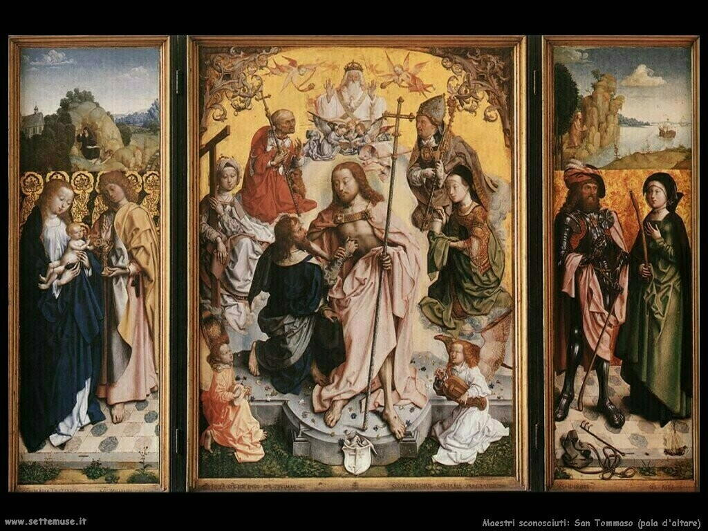 maestri sconosciuti Pala d'altare san Tommaso
