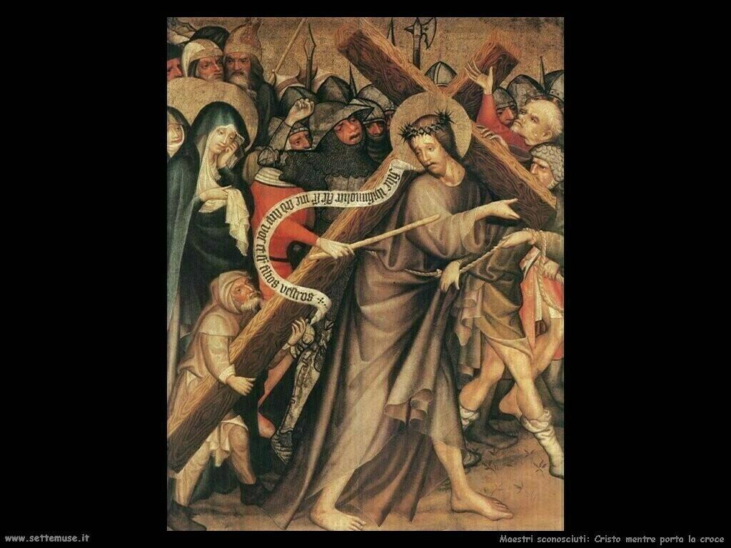 maestri sconosciuti Cristo mentre porta la croce