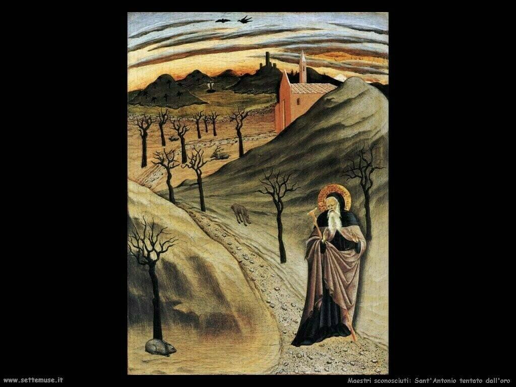 maestri sconosciuti Sant'Antonio tentato dall'oro