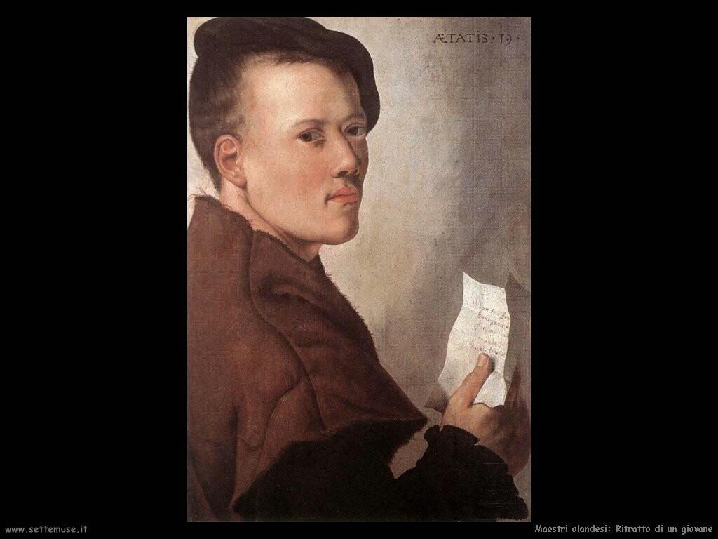maestri sconosciuti olandesi Ritratto di un giovane