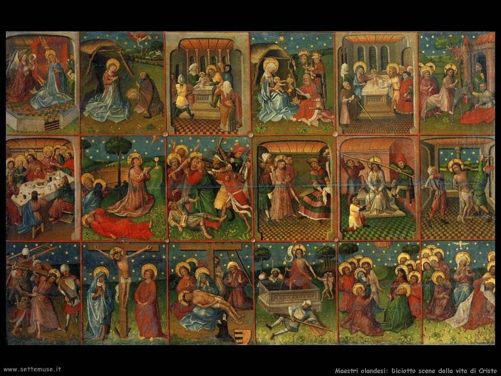 maestri sconosciuti olandesi Otto scene dalla vita di Cristo