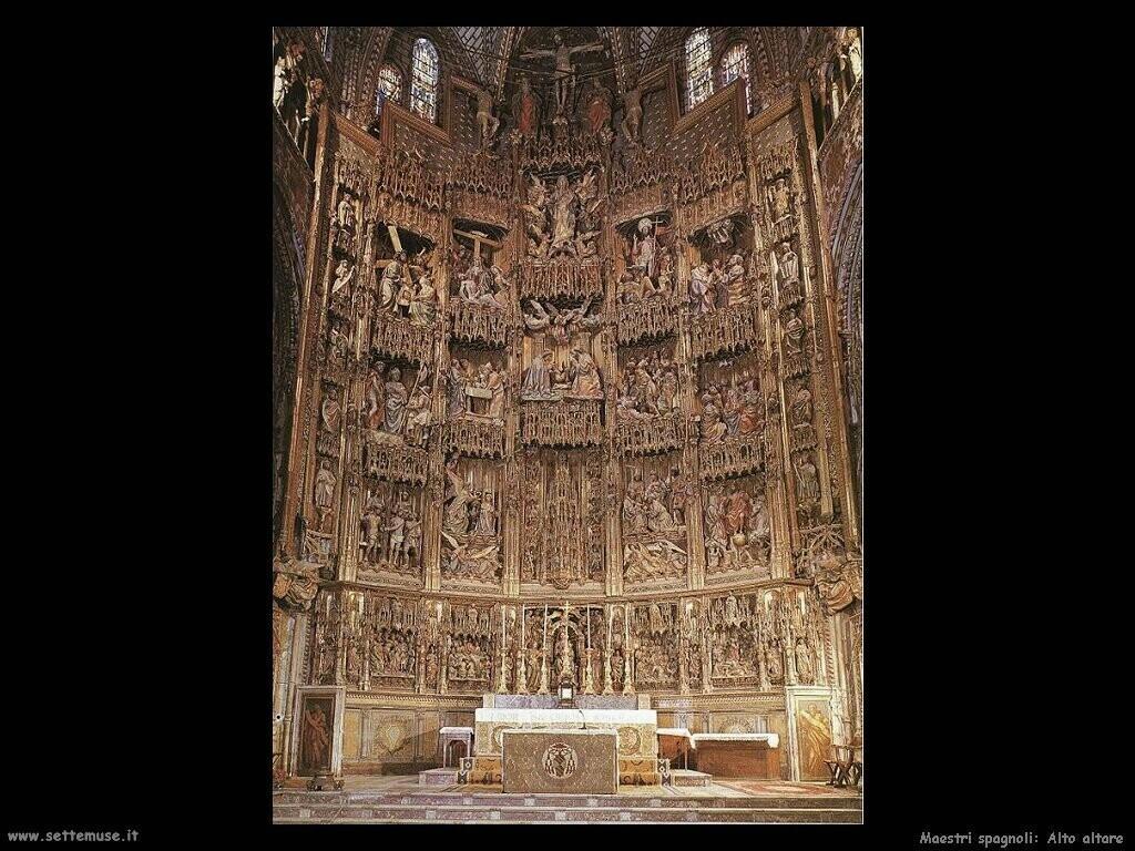 maestri sconosciuti spagnoli Altare