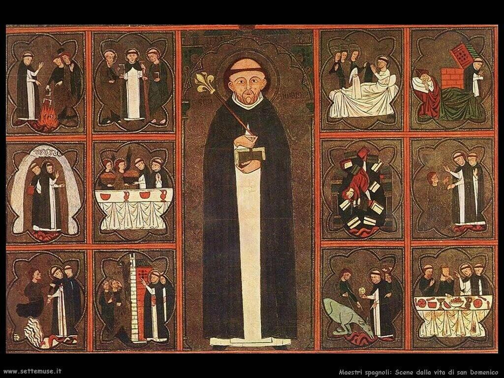 maestri sconosciuti spagnoli Scene dalla vita di san Domenico