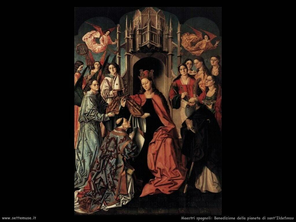 maestri sconosciuti spagnoli La benedizione a sant'Ildefonso
