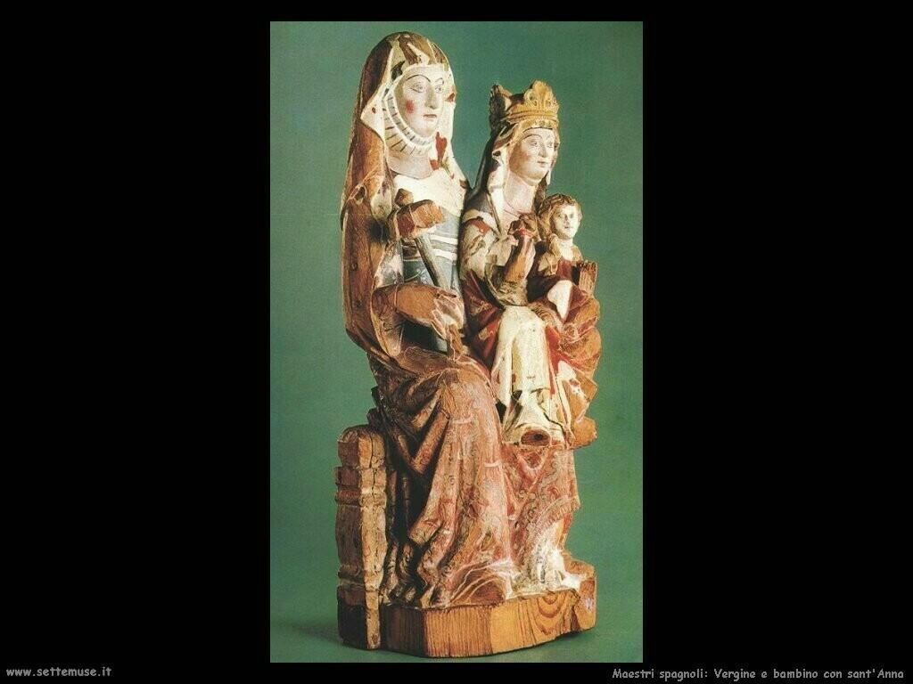 maestri sconosciuti spagnoli Vergine con bambino e sant'Anna