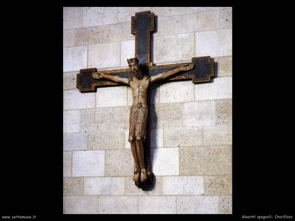 maestri sconosciuti spagnoli Crocifisso