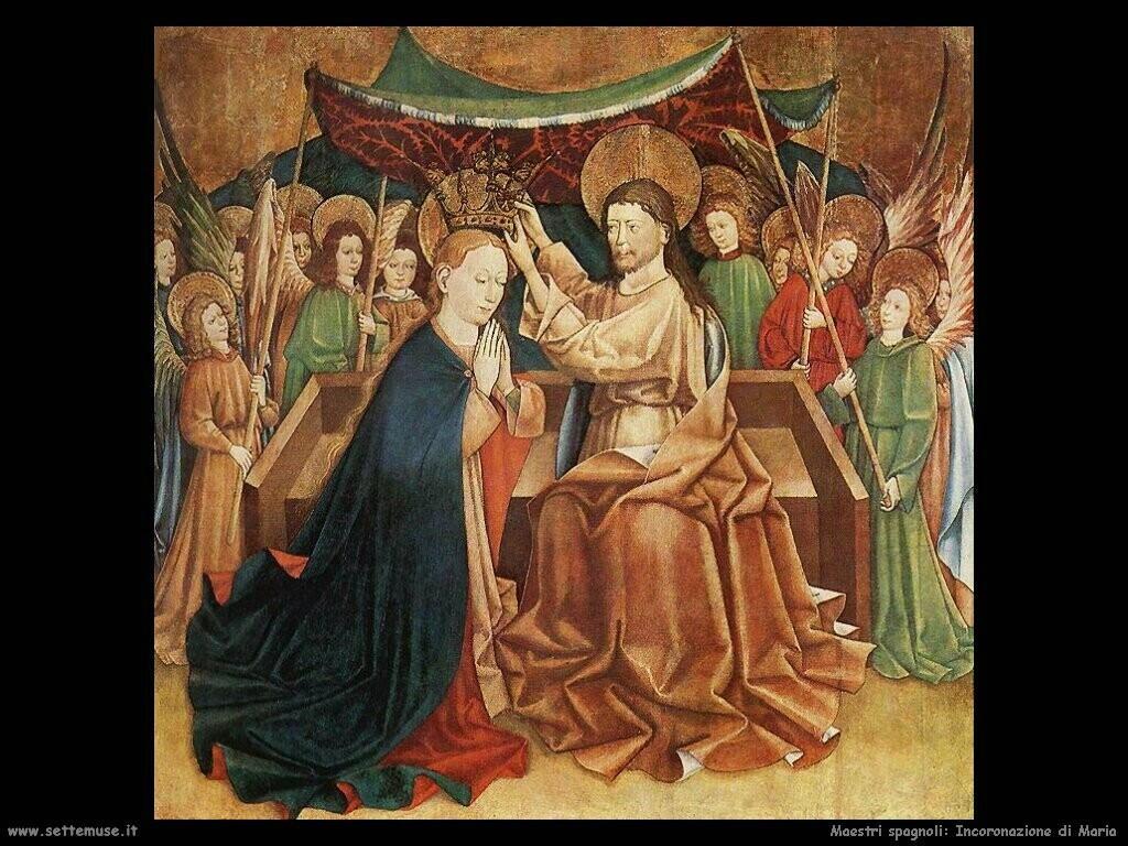 maestri sconosciuti spagnoli Incoronazione della Vergine