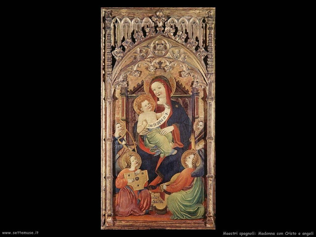 maestri sconosciuti spagnoli Madonna con Cristo bambino