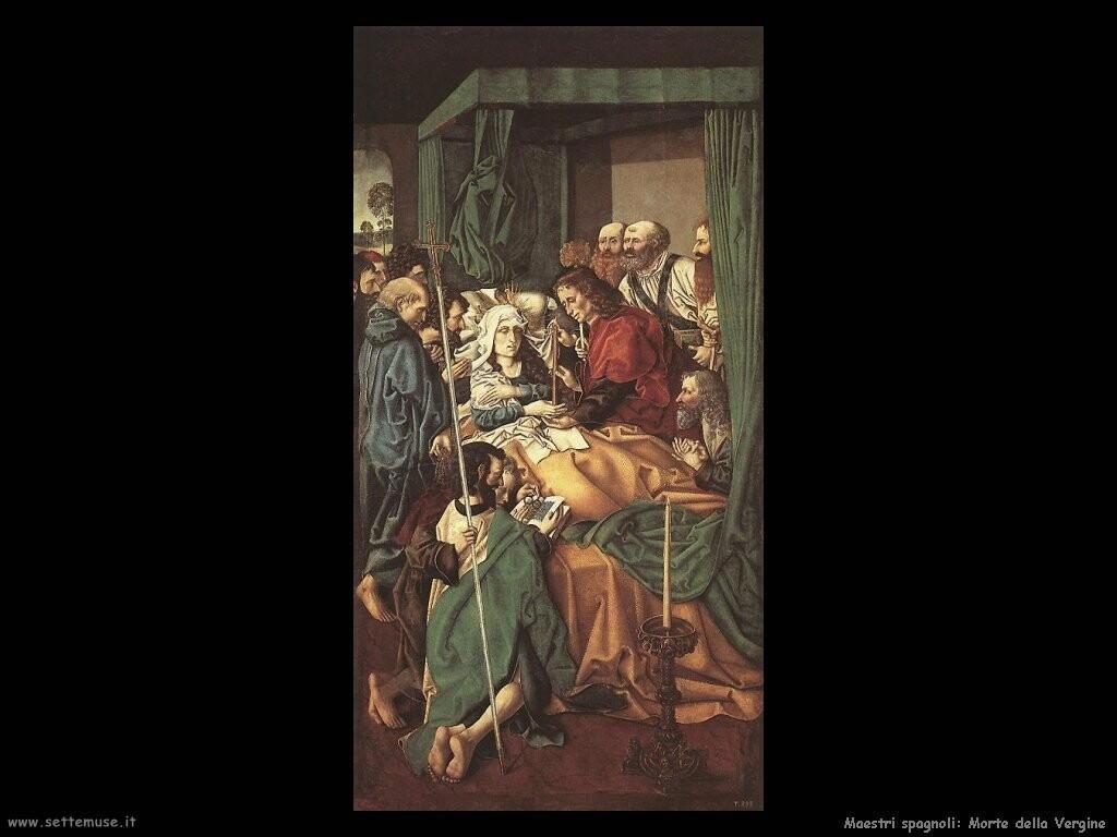 maestri sconosciuti spagnoli Morte della Vergine