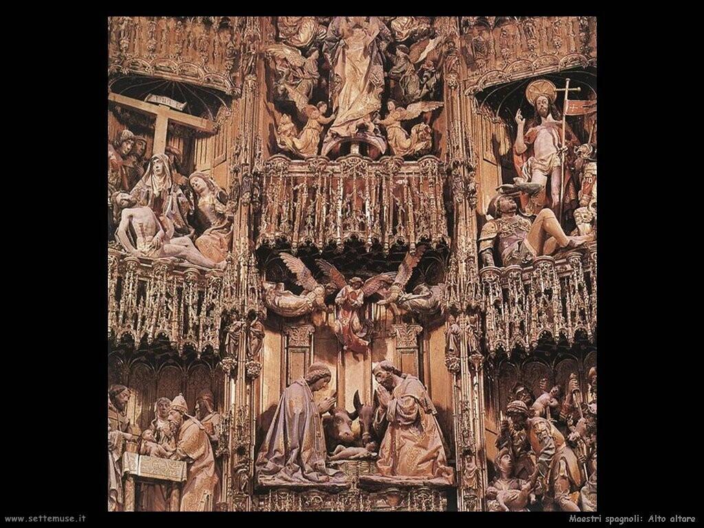 maestri sconosciuti spagnoli Alto altare