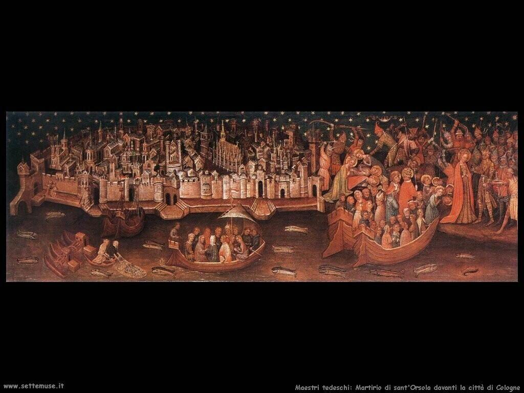 maestri sconosciuti tedeschi Martirio di santa Ursula davanti a Colonia