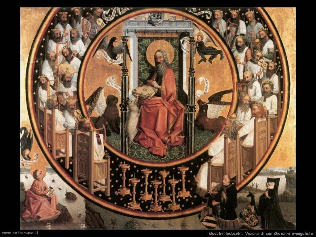 maestri sconosciuti tedeschi_Visione di san Giovanni evangelista