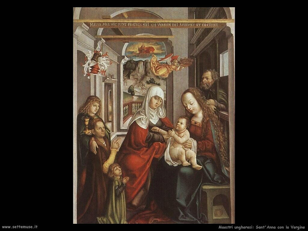 maestri sconosciuti ungheresiSant'Anna con la Vergine