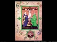 miniature boeme  Cristo in croce tra la Vergine