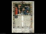 miniature fiamminghe Prima pagina delle Cronache di Hainaut
