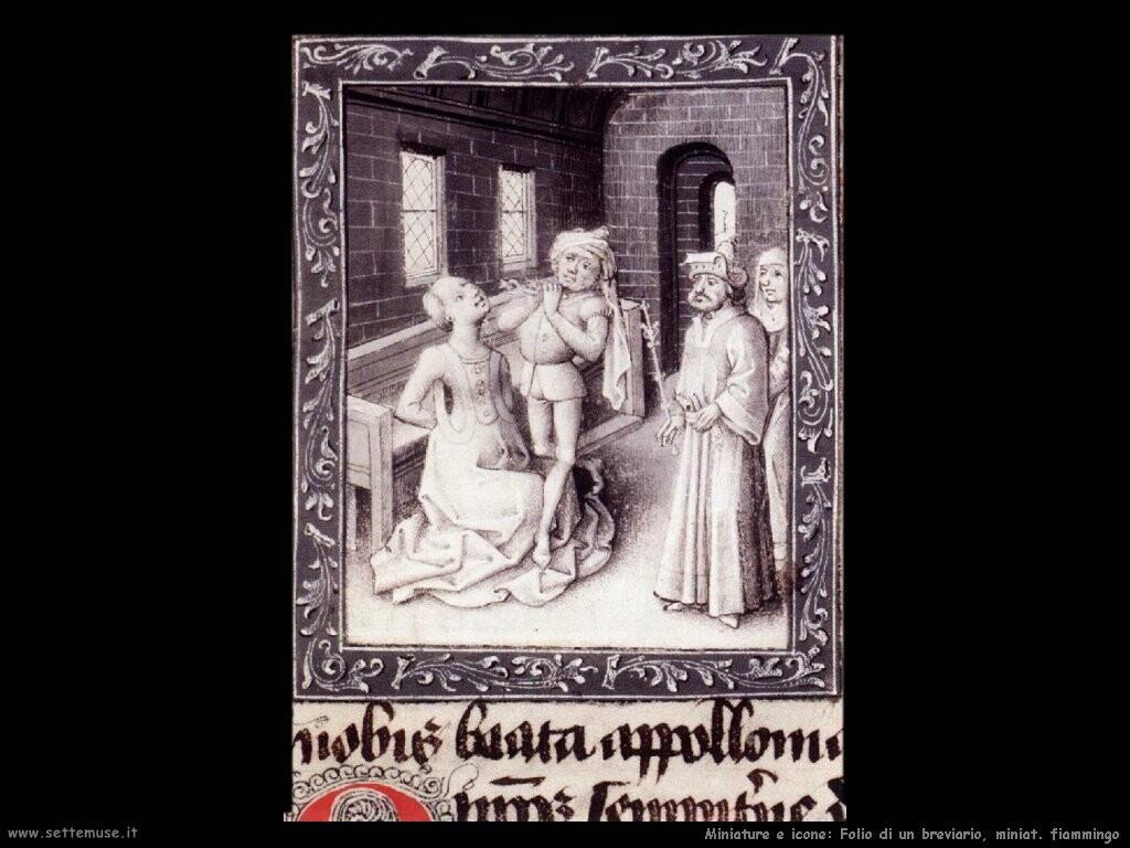 miniature fiamminghe Folio di breviario