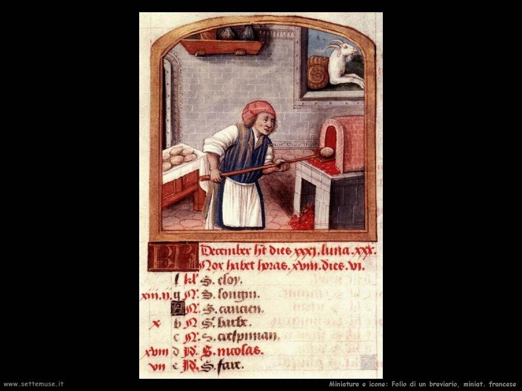 miniature francesi   Folio di breviario