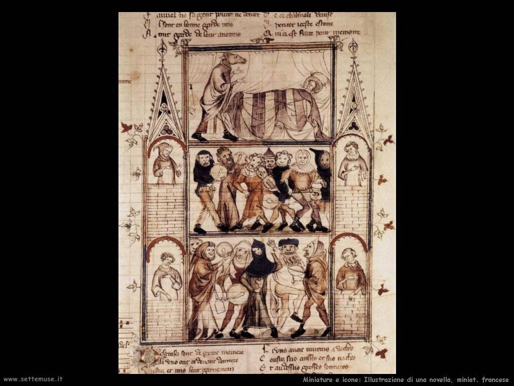 miniature francesi Illustrazione di una novella