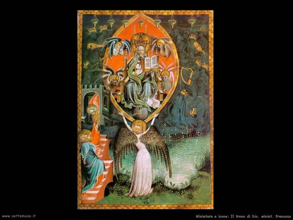 miniature francesi  Visione del trono del lord