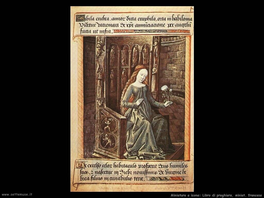 miniature francesi Libro di preghiere