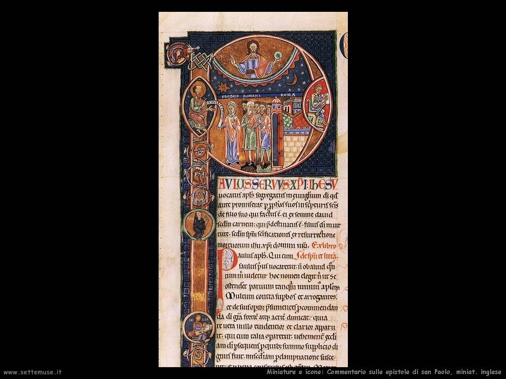 miniature inglesi  Commentario san Pan