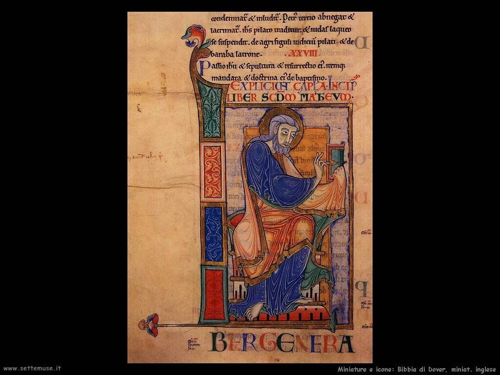 miniature inglesi  Bibbia di Dover
