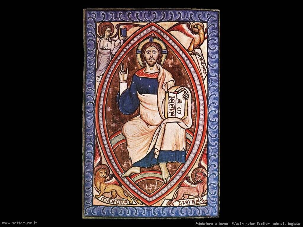 miniature inglesi Salterio di Winchester