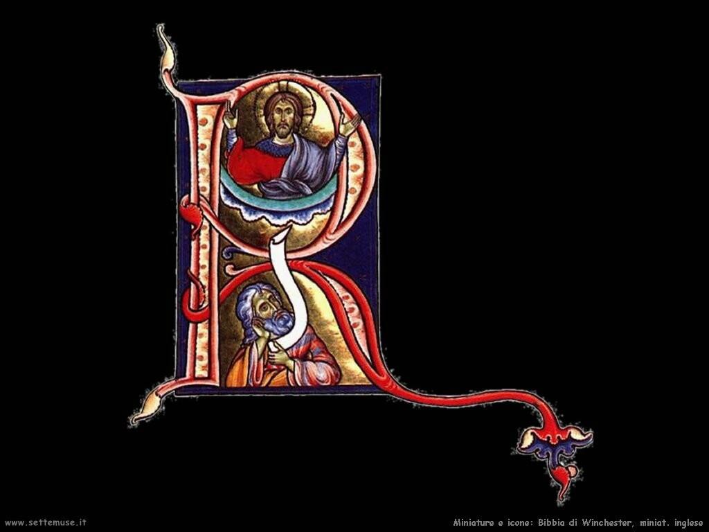 miniature inglesi Bibbia Winchester
