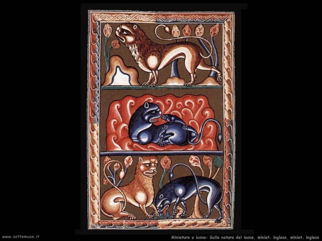 miniature inglesi Folio dal Bestiario