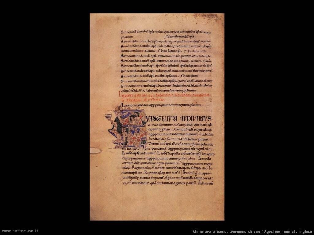 miniature inglesi Sermoni di sant'Agostino