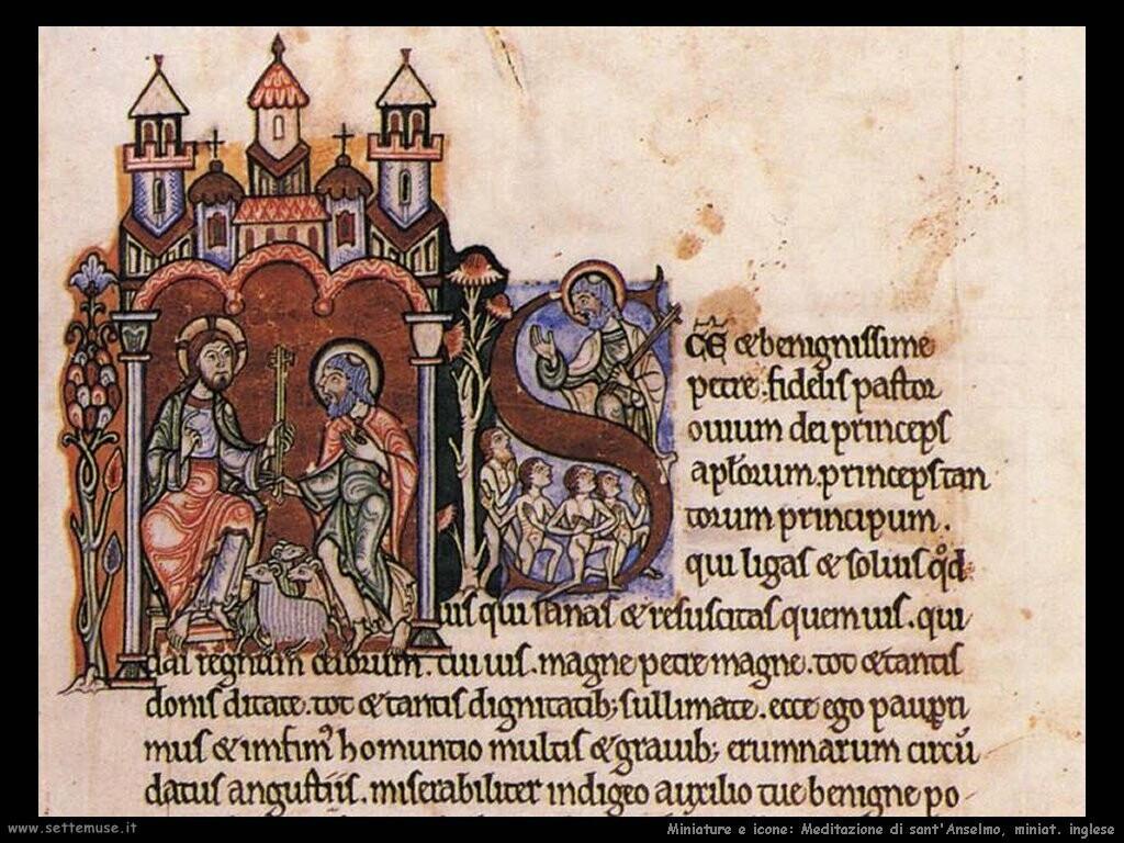 miniature inglesi Meditazioni di sant'Anselmo