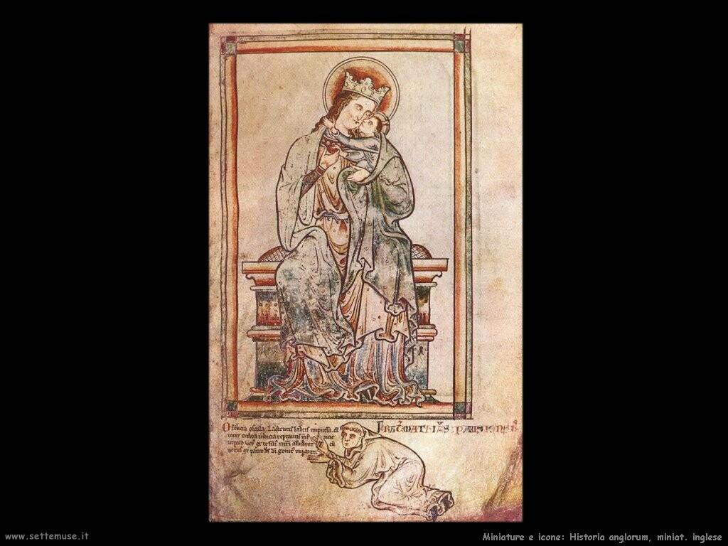 miniature inglesi   Historia anglorum