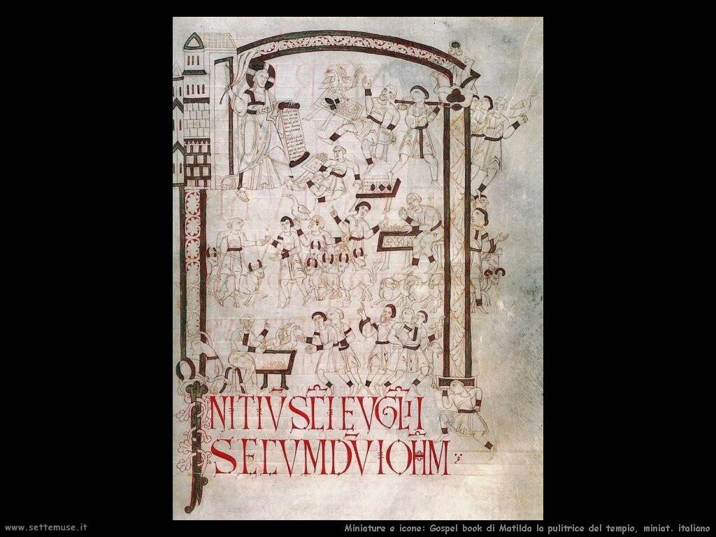 miniature italiane  Libro di gospel di Matilda