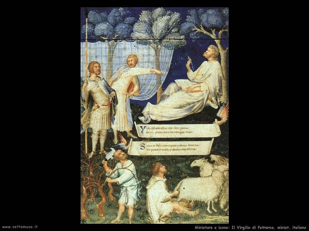 miniature italiane  Virgilio di Petrarca