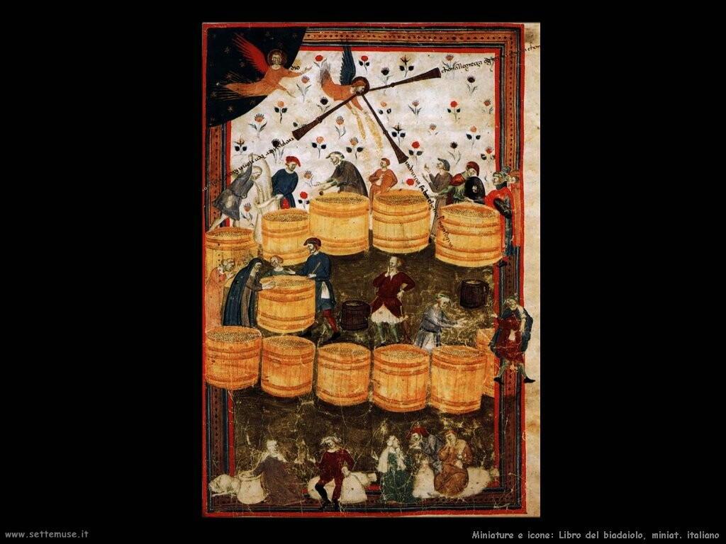 miniature italiane  Libro del biadaiolo