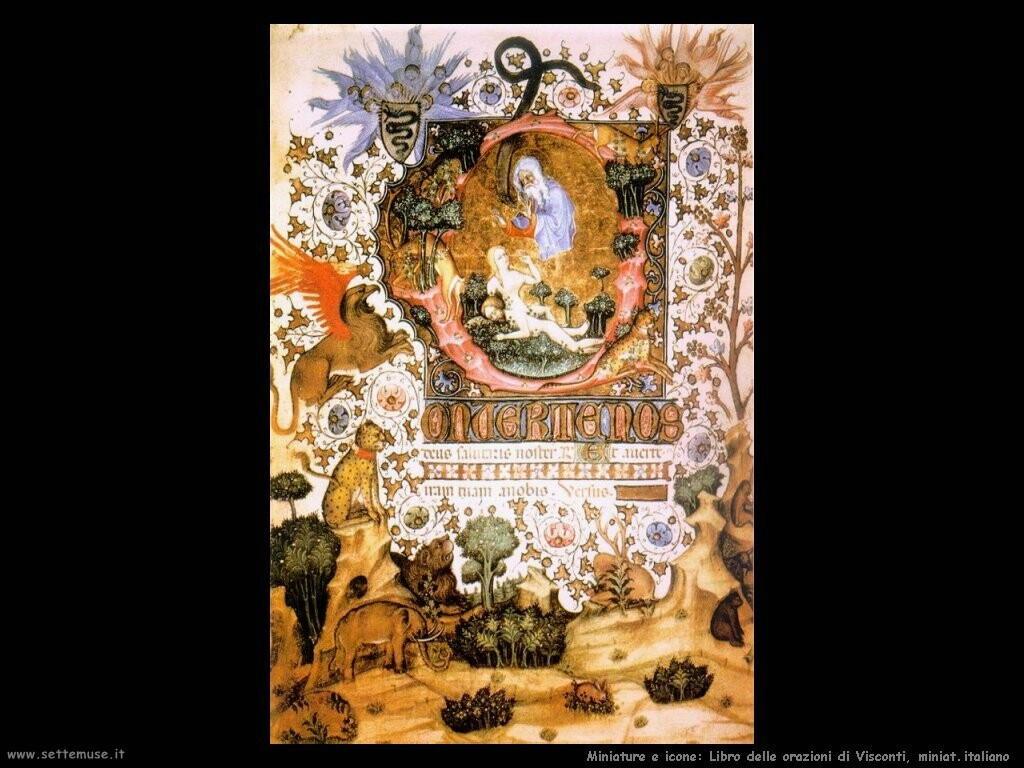 miniature italiane Libro delle orazioni di Visconti