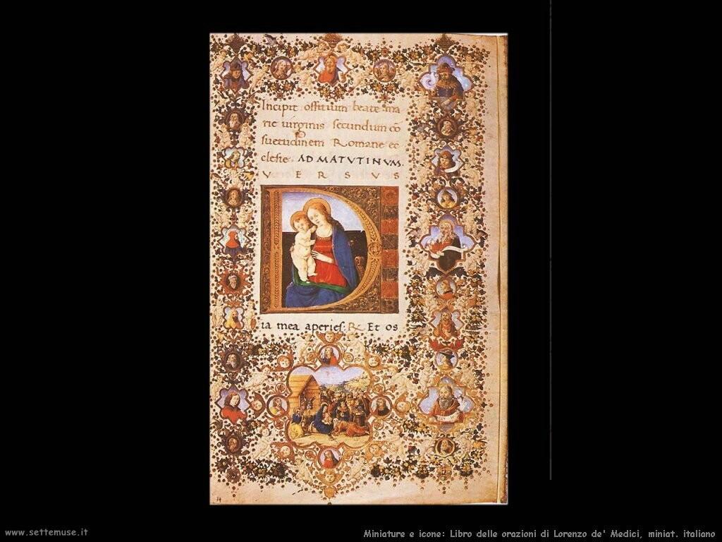 miniature italiane Libro di preghiere di Lorenzo de' Medici