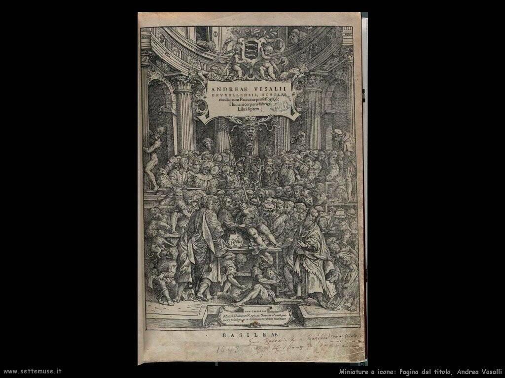 Pagina titolo Andreas Vesalius