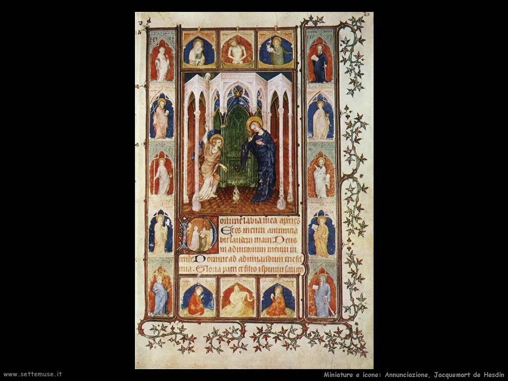 Annunciazione, Jacquemart de Hesdin