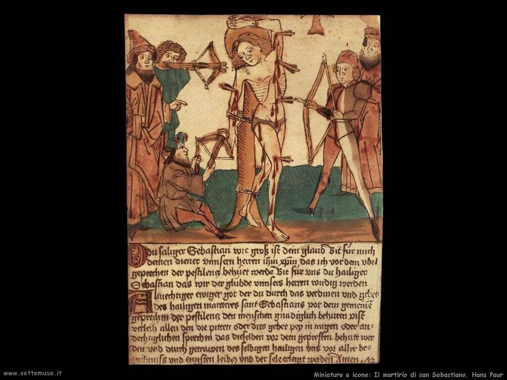 Martirio di san Sebastiano, Hans Paur