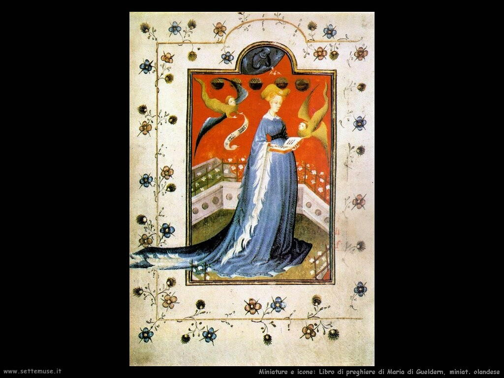 miniature olandesi Libro di preghiere di Maria di Gueldern