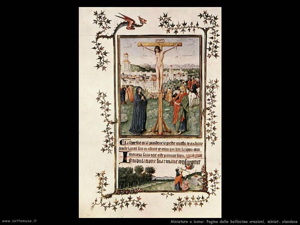 miniature olandesi Pagina dalle bellissime orazioni